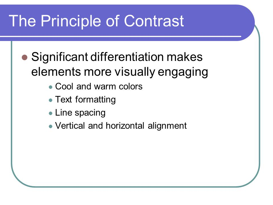 principle of contrast Contrast as a principle of design and how to use it to improve your photography.