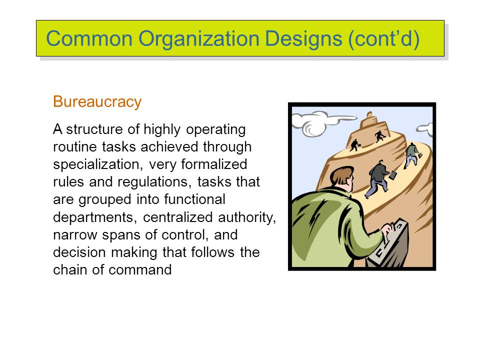 strengths and weaknesses of bureaucracy Bureaucratic organizational structures are top-down hierarchies, in which  communication flows downward from the leader in corporate.