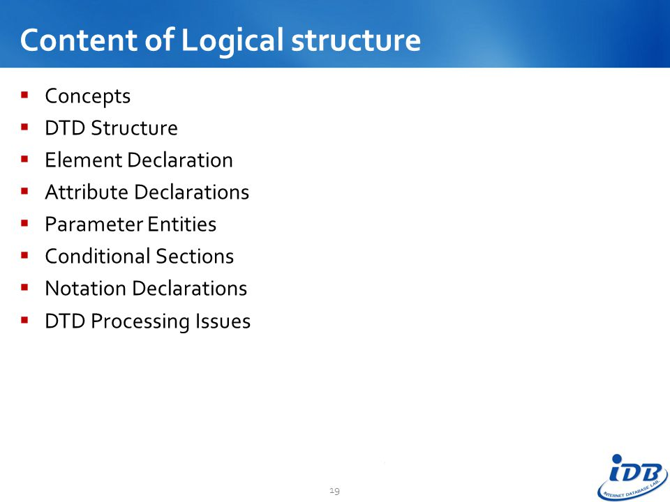 Content of Logical structure