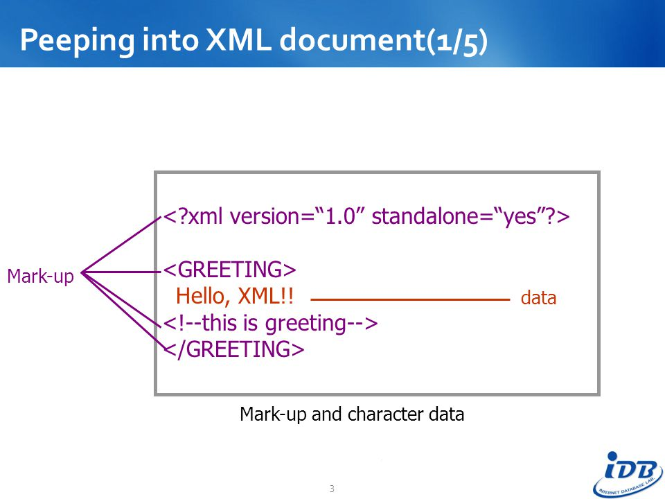 Peeping into XML document(1/5)