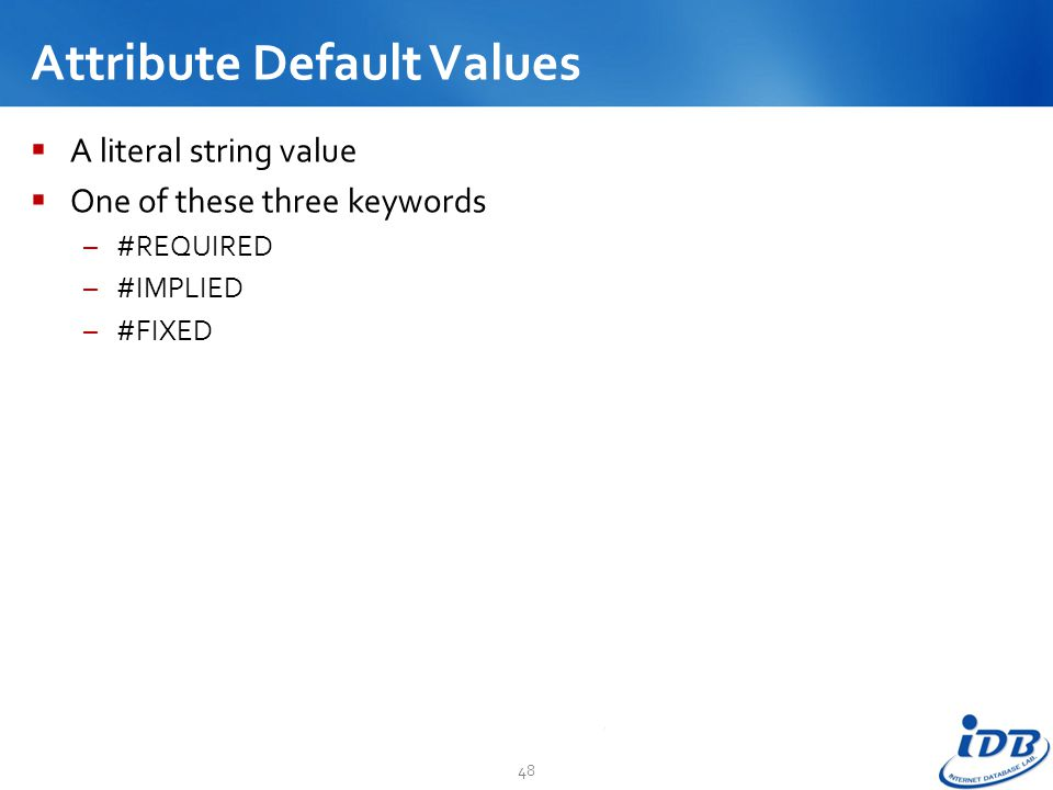 Attribute Default Values