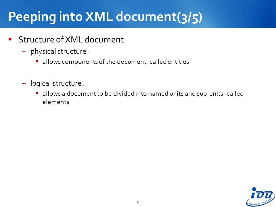 Peeping into XML document(3/5)