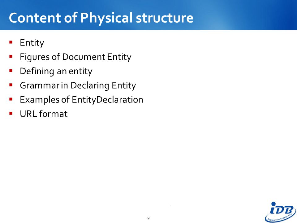 Content of Physical structure