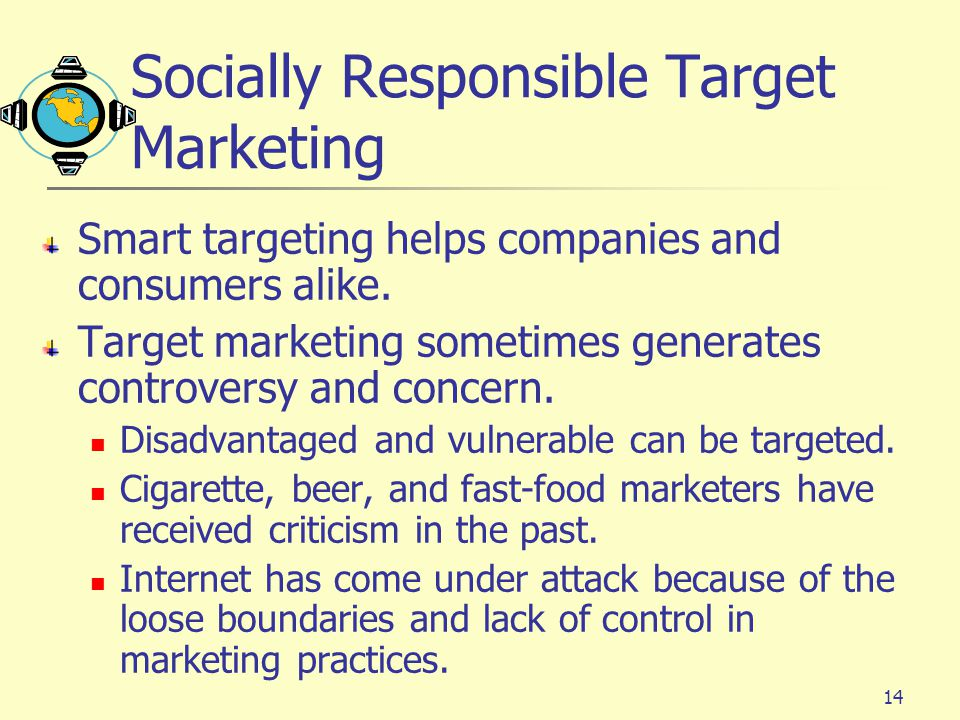 Socially Responsible Target Marketing