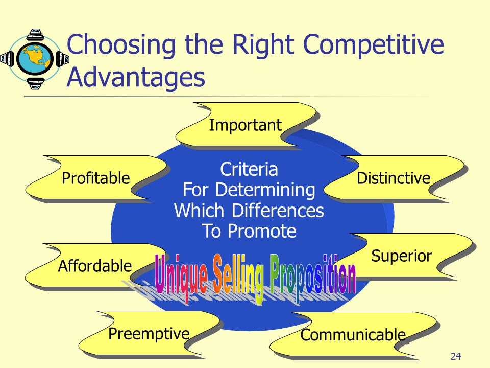 Choosing the Right Competitive Advantages