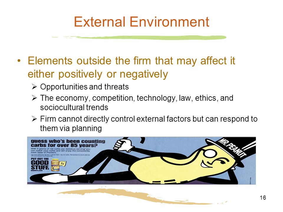 external environment that can affect a restaurant How do cultural factors affect  foods while you have a fast food restaurant, this will obviously affect you  analyze the company external environment.