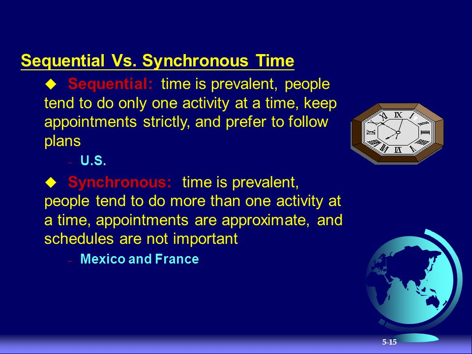 Sequential Vs. Synchronous Time