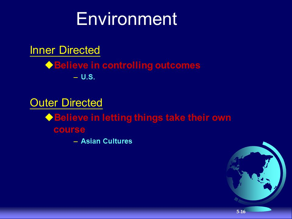 Environment Inner Directed Outer Directed