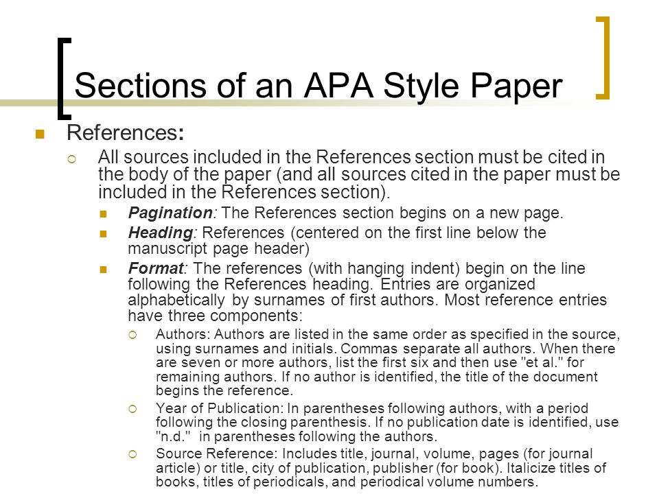 apa research paper components