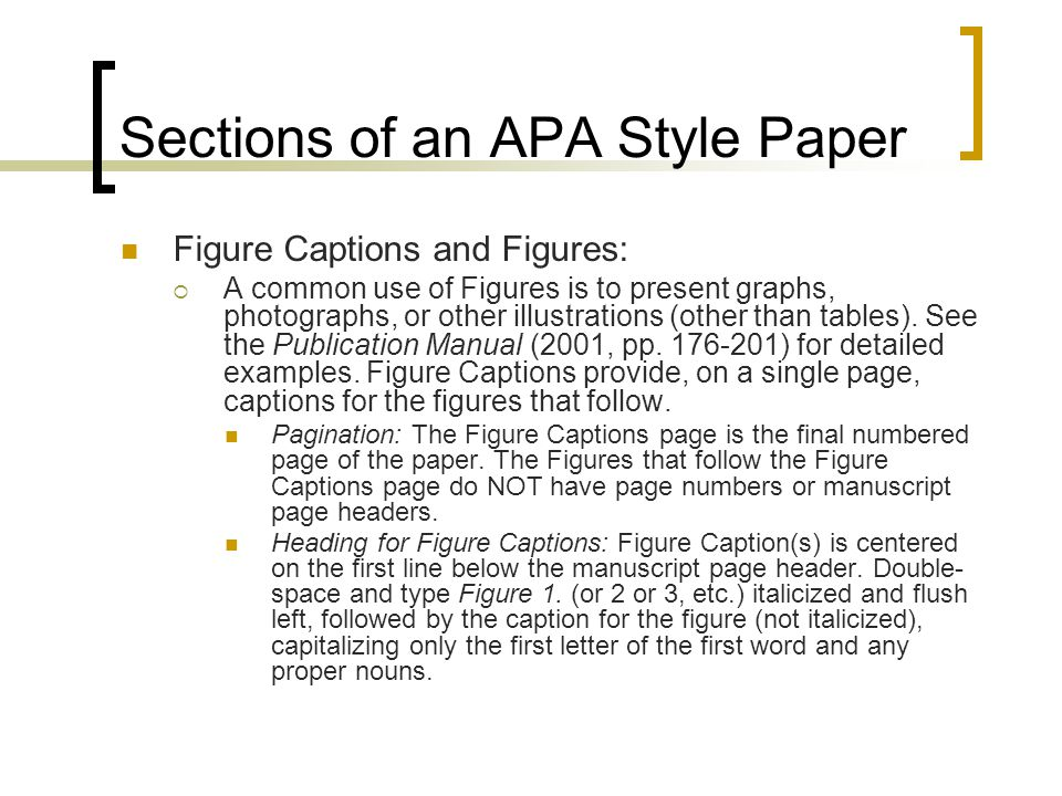 apa thesis figures The construction of a thesis including the order and presentation of materials and the formatting in apa, the figure number and thesis formatting guidelines.