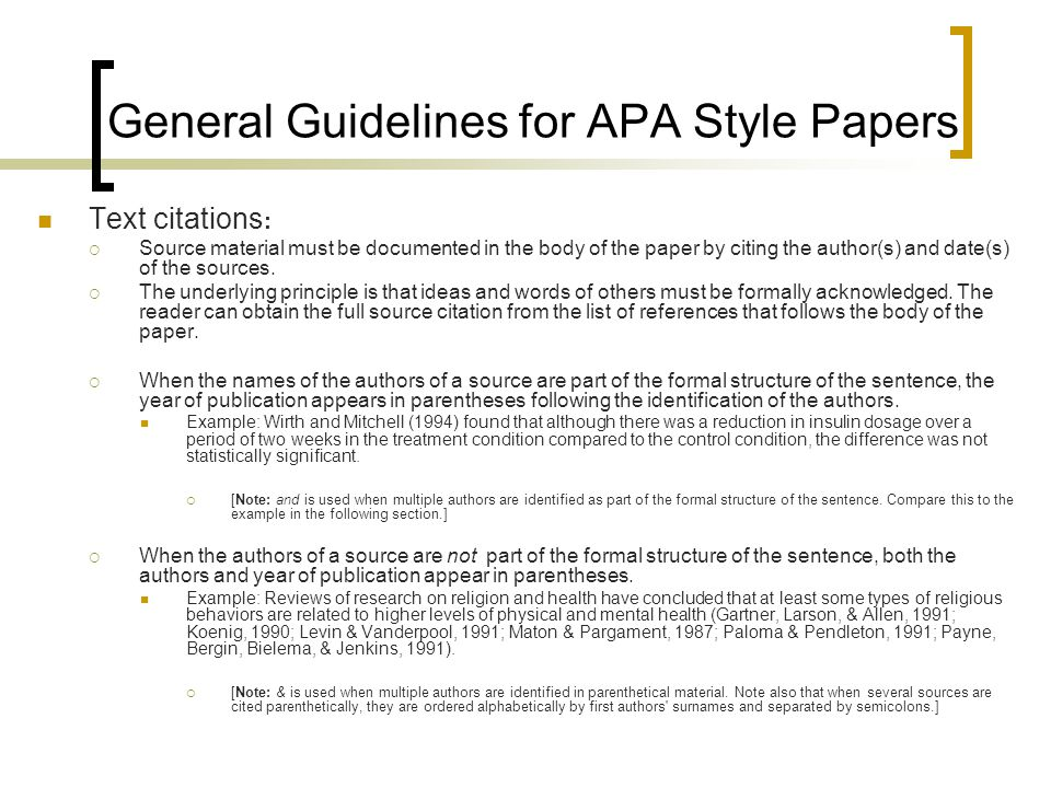 apa documentation style for research papers