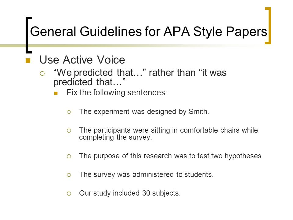 apa format of writing a research paper
