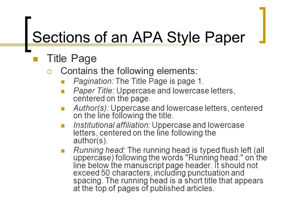 Elements of an apa essay
