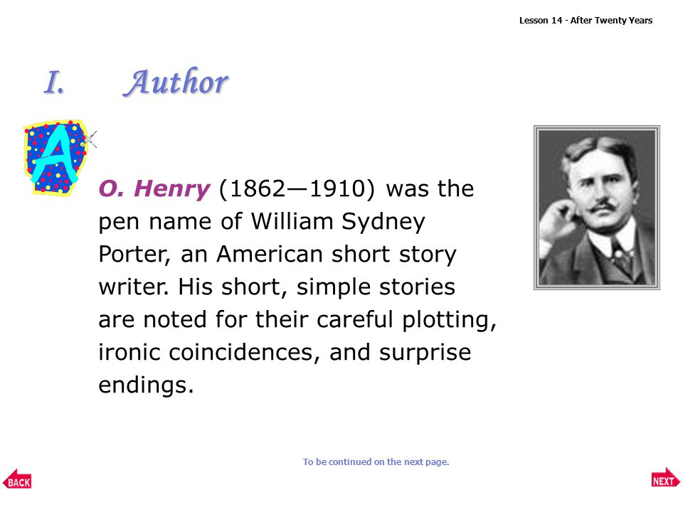 after twenty years by o henry summary