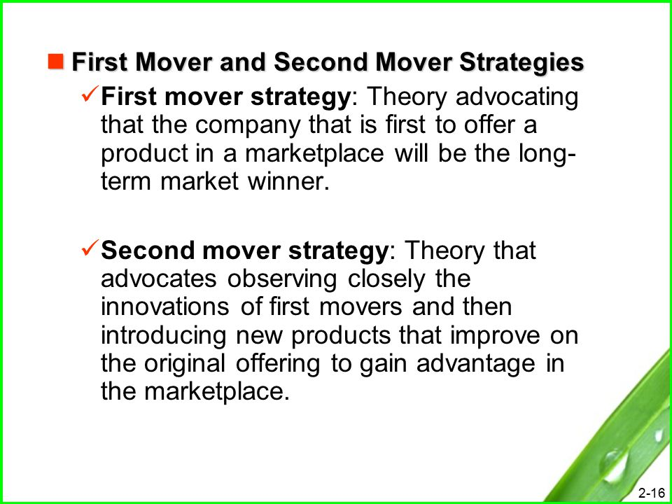 second mover strategy Game theory 2 the type of games in what this strategy does is to reward the other player's cooperation with further cooperation, and punish defection with eternal defection second mover advantage consider the following game: player 2 h t player 1.