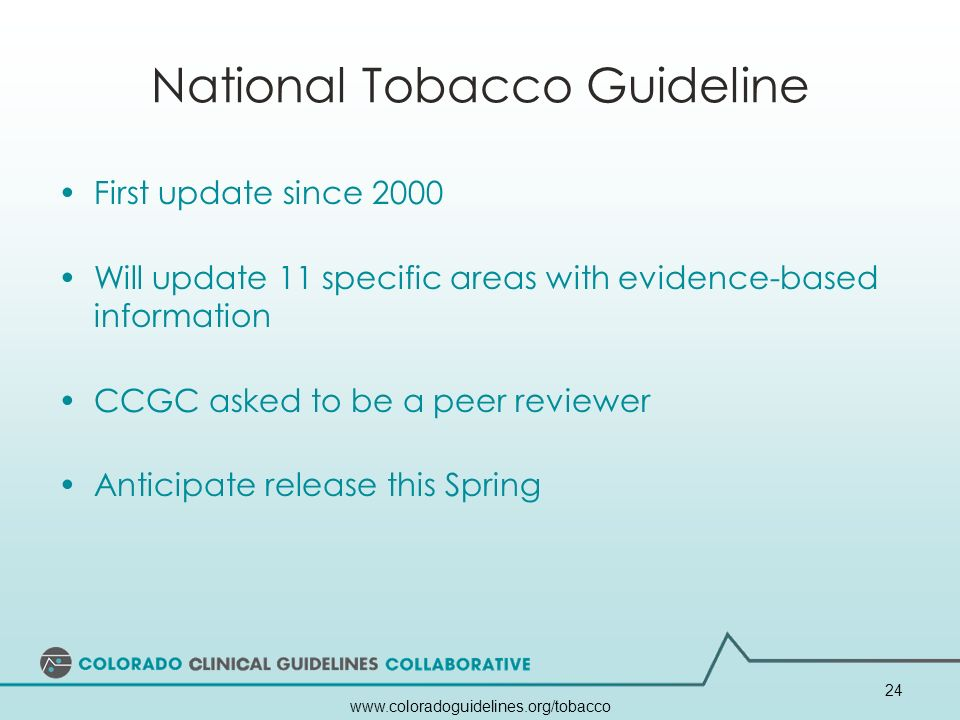 National Tobacco Guideline