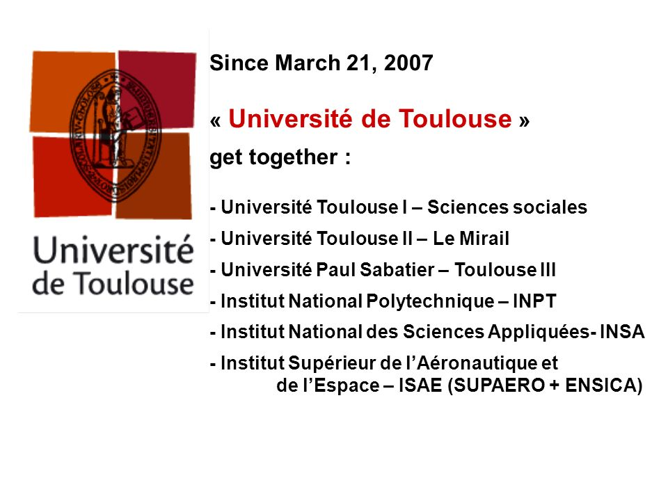 « Université de Toulouse » get together :