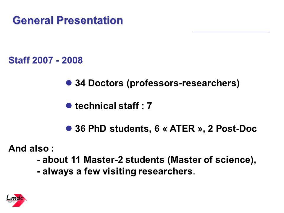 General Presentation Staff 2007 - 2008