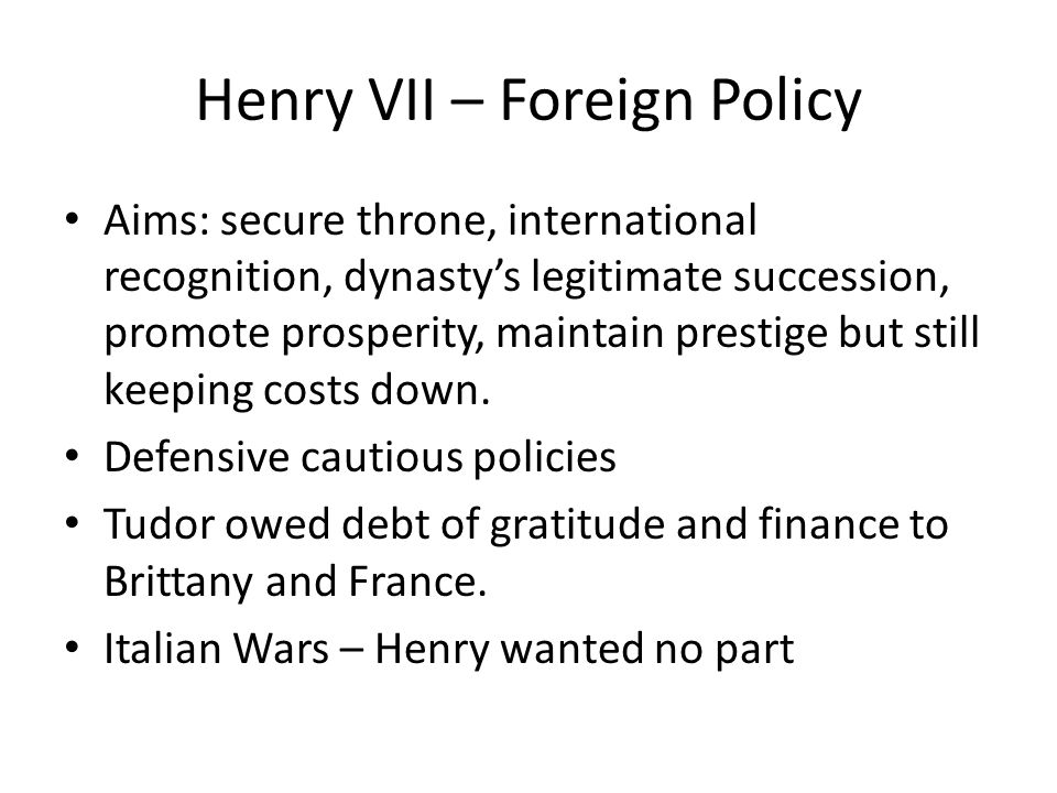 henry viii foreign policy essay