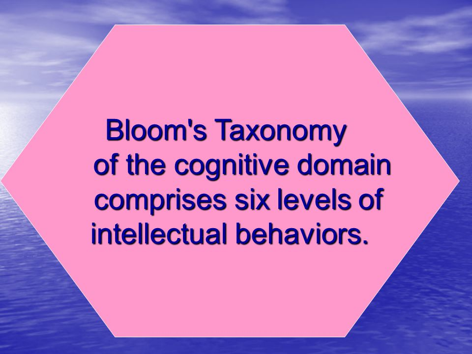 of the cognitive domain comprises six levels of