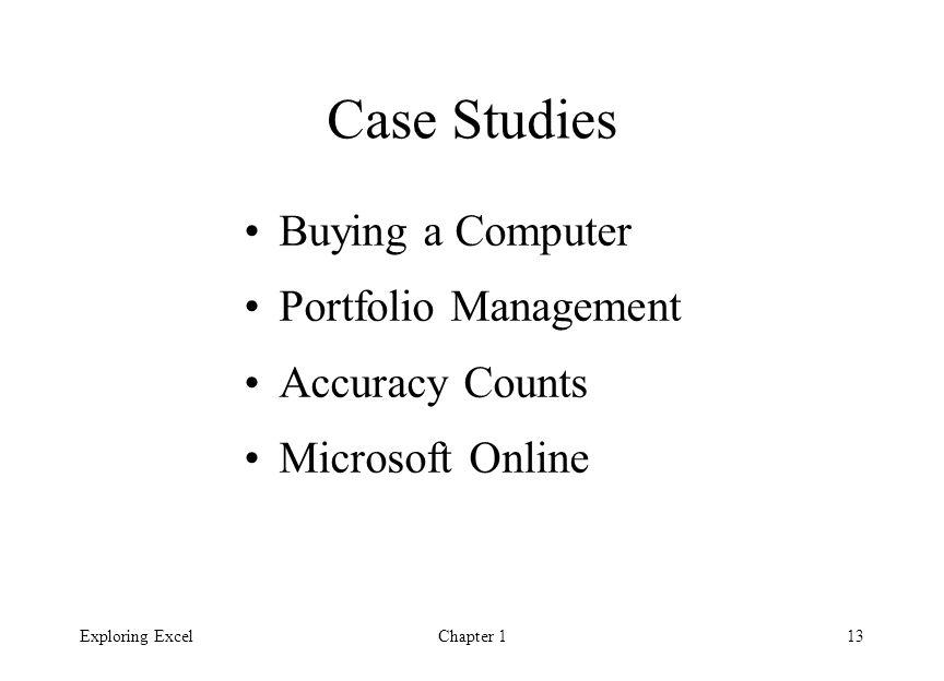 case study using microsoft excel