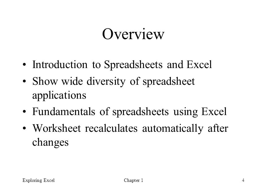 introduction to spreadsheets essay Free spreadsheet papers, essays, and research papers excel spreadsheet use and the strategic corporate plan - excel spreadsheet use and the strategic corporate plan introduction in years past, every well-run corporation undoubtedly had a written business plan.