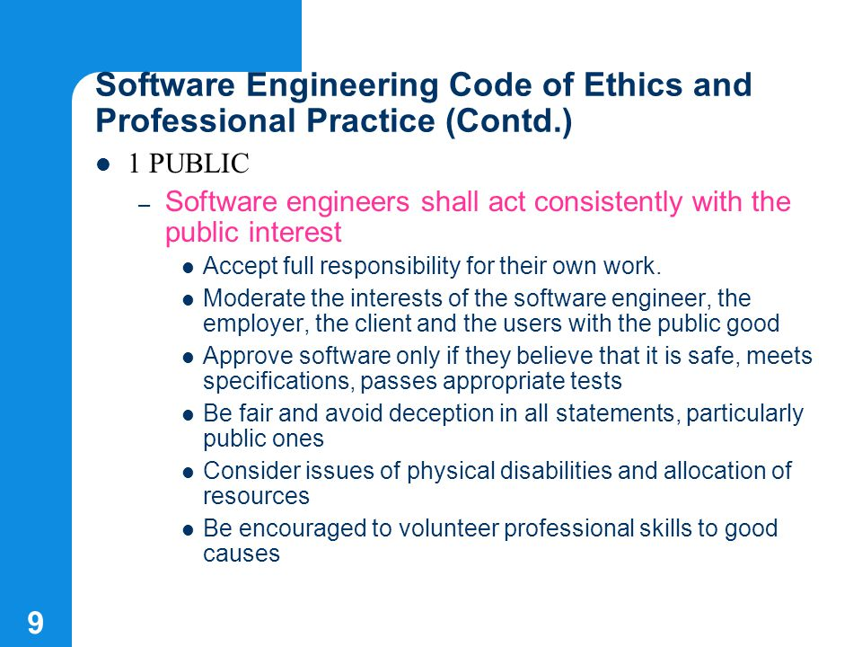 9 software engineering - Responsibilities Of A Software Engineer