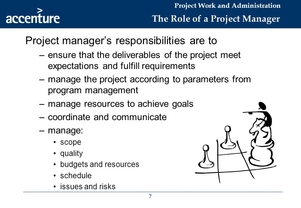 The Role of a Project Manager