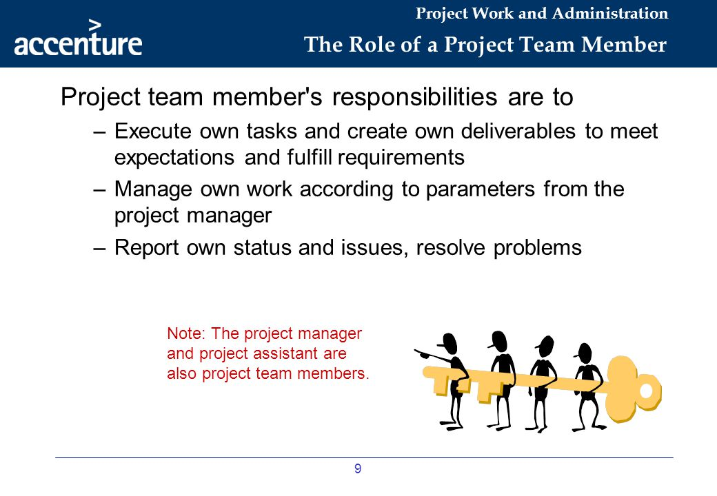 The Role of a Project Team Member