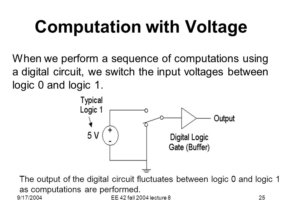 Computation with Voltage