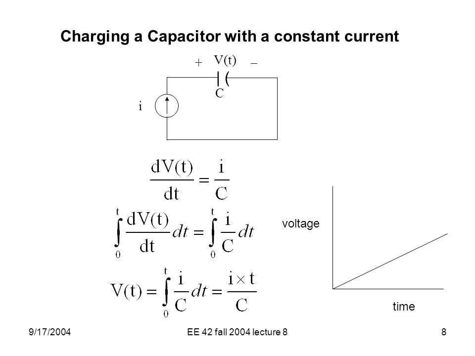 an experiment on the variables and constants of the capacitor 1 experiments with capacitors c determination of the constants from the 131 goal of this experiment a capacitor is charged and discharged through a.