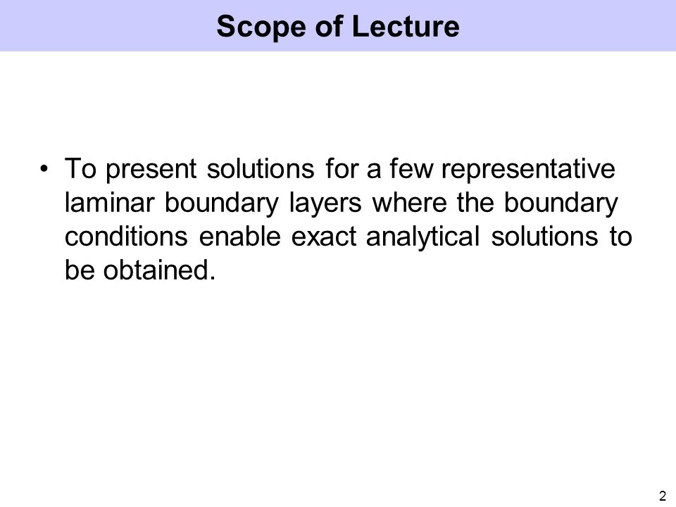 Scope of Lecture