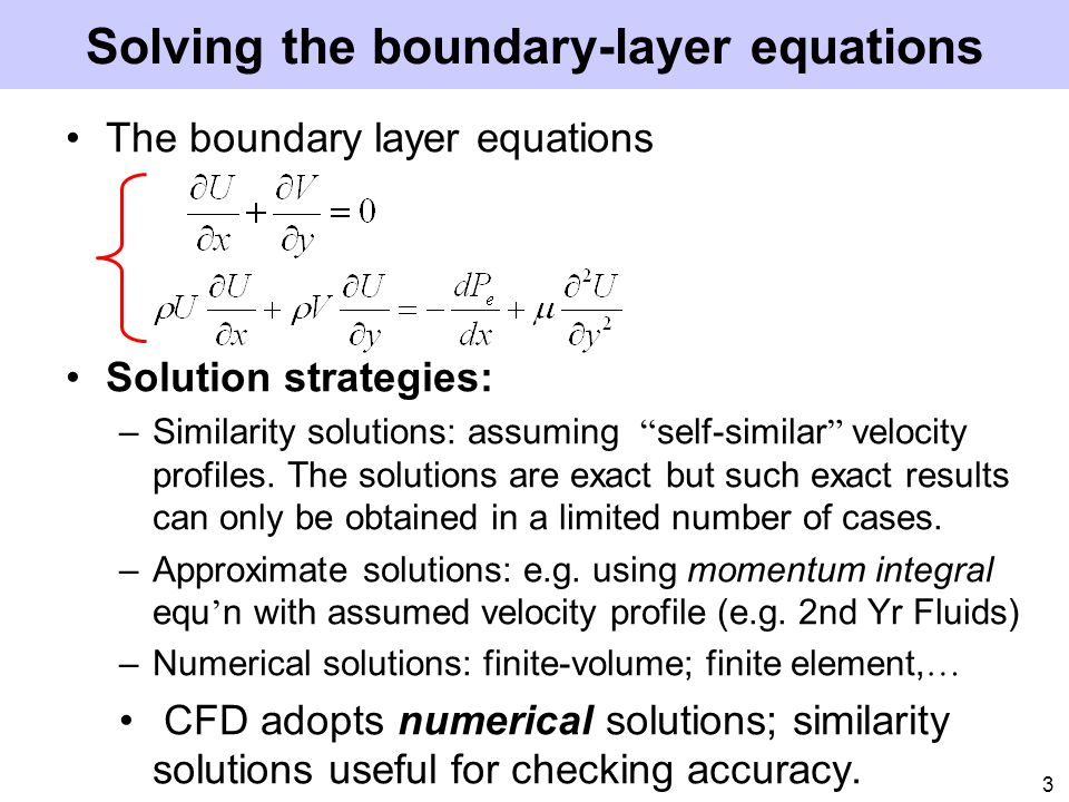 Solving the boundary-layer equations