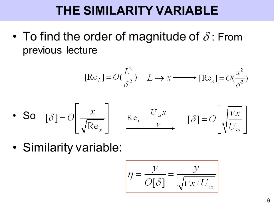 THE SIMILARITY VARIABLE