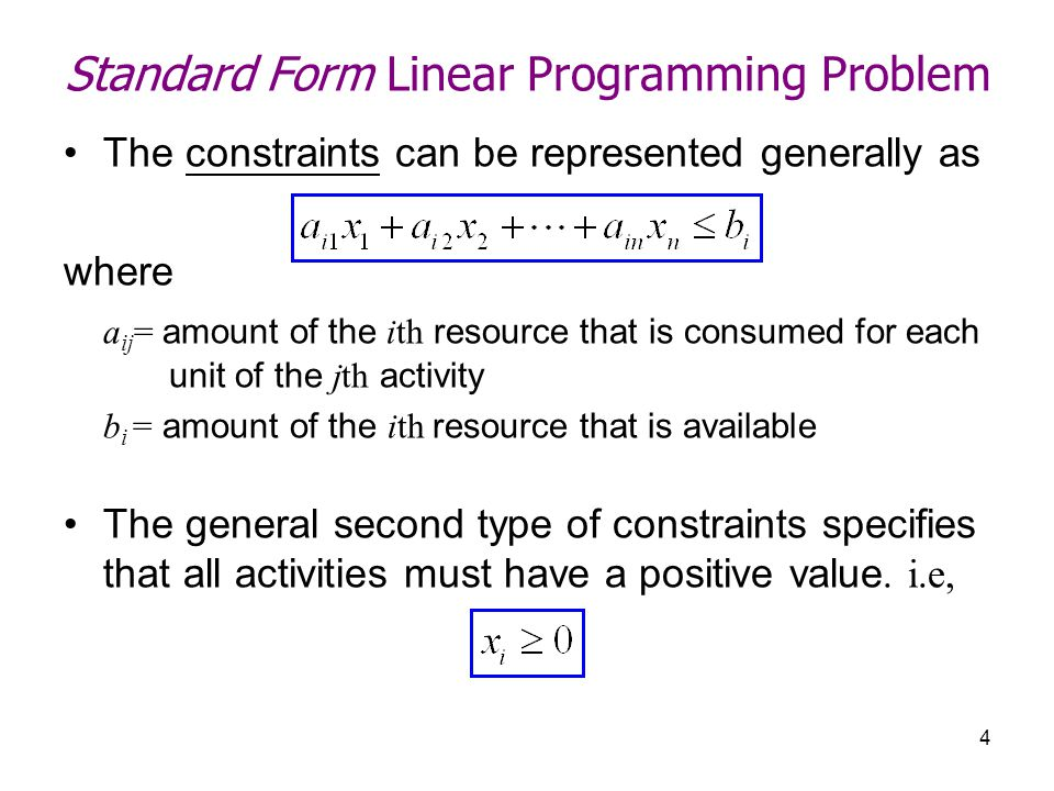 Linear Programming Standard Form Dolapgnetband