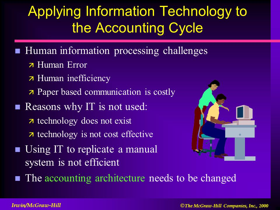 applying technology to information system Systems analysis and design/introduction  using, updating, and maintaining an information system  this is especially critical with information technology.
