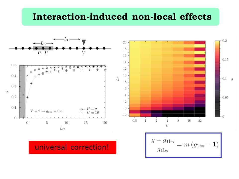 Interaction-induced non-local effects