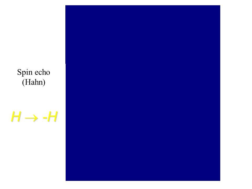 Spin echo (Hahn) H  -H