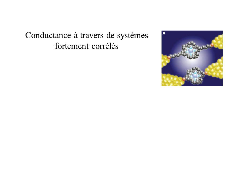 Conductance à travers de systèmes fortement corrélés