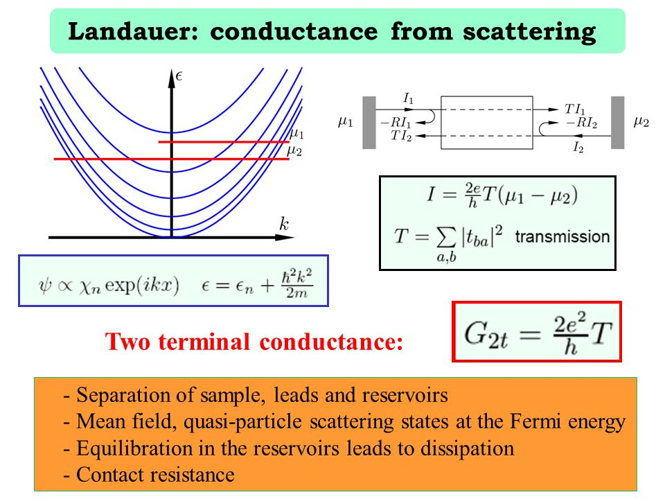 Landauer: conductance from scattering