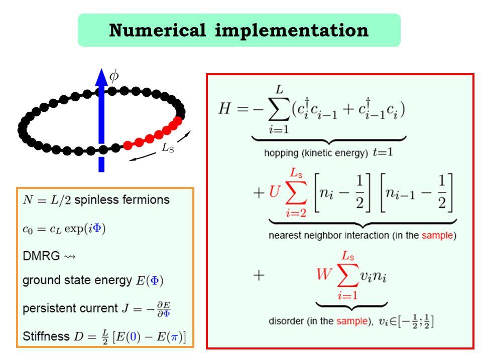 Numerical implementation
