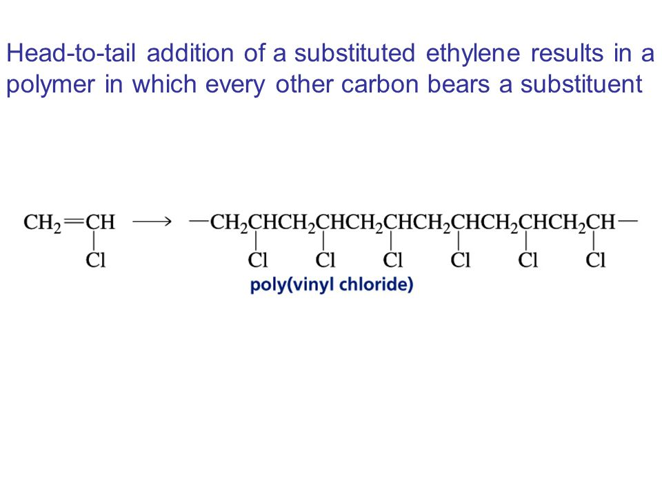 Head-to-tail addition of a substituted ethylene results in a