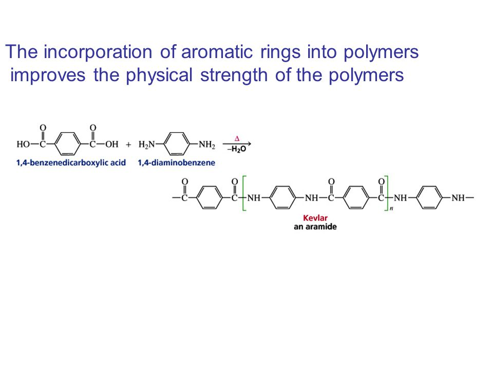 The incorporation of aromatic rings into polymers