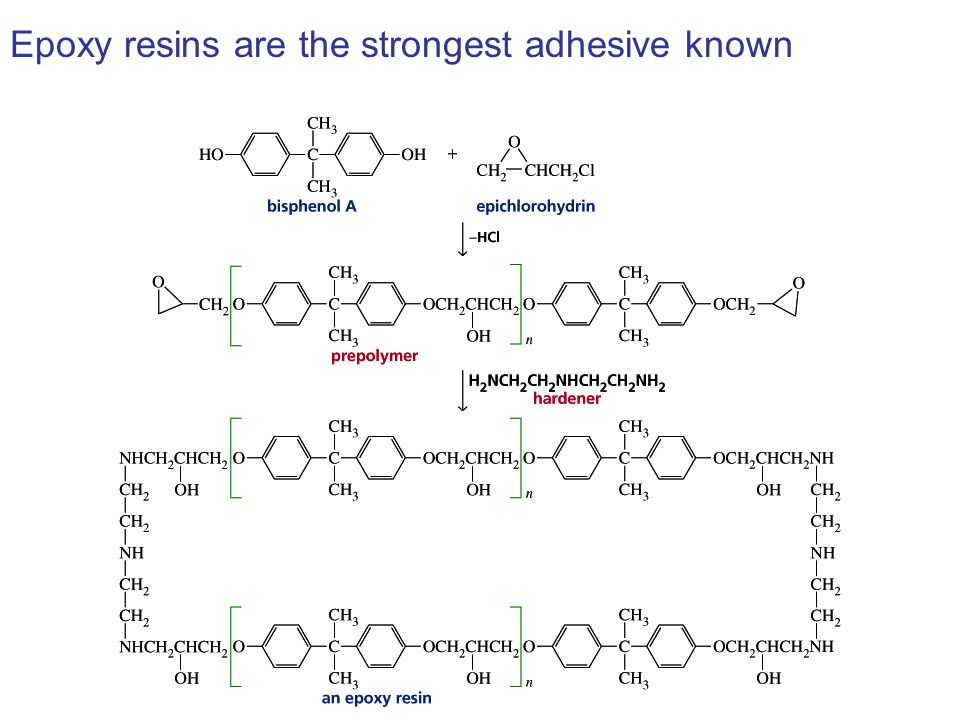 Epoxy resins are the strongest adhesive known
