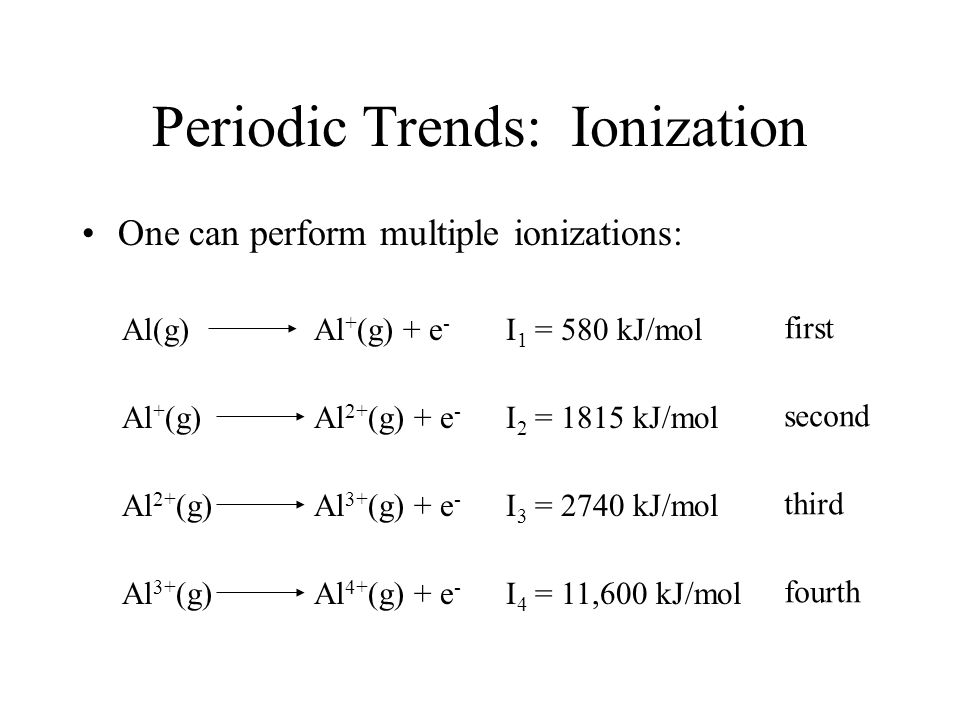 Lecture 20: Periodic Trends - ppt video online download
