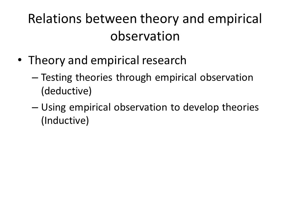 links to theory through observation The link between reality and observation is based on what has been called the  since quantum theory says that the particle's behavior is indeterminate until its.