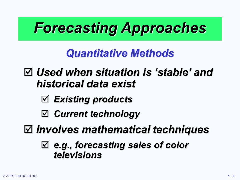 quantitative methods of demand forecasting pdf