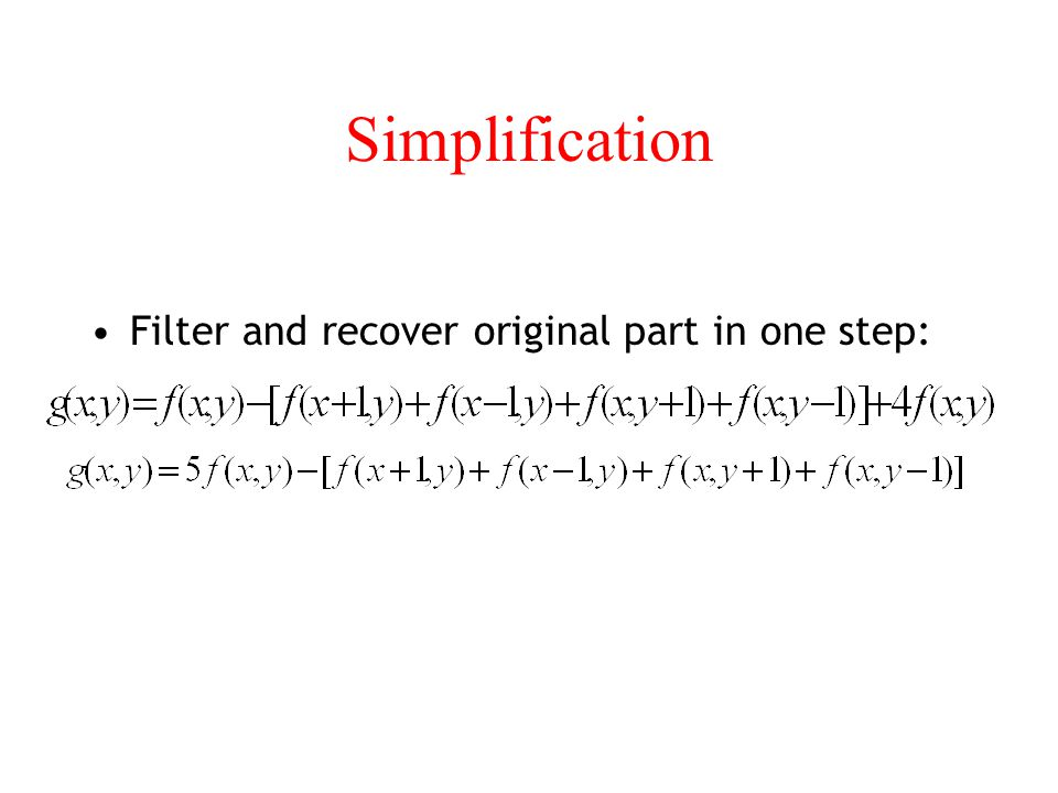 Simplification Filter and recover original part in one step: