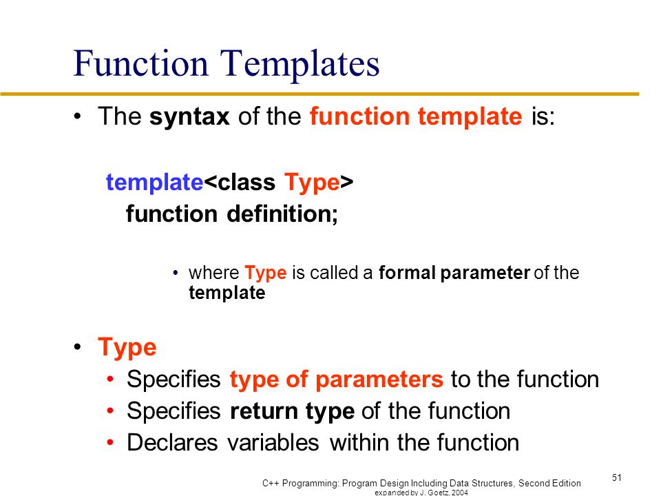 Chapter 14 overloading and templates ppt download for What is template function
