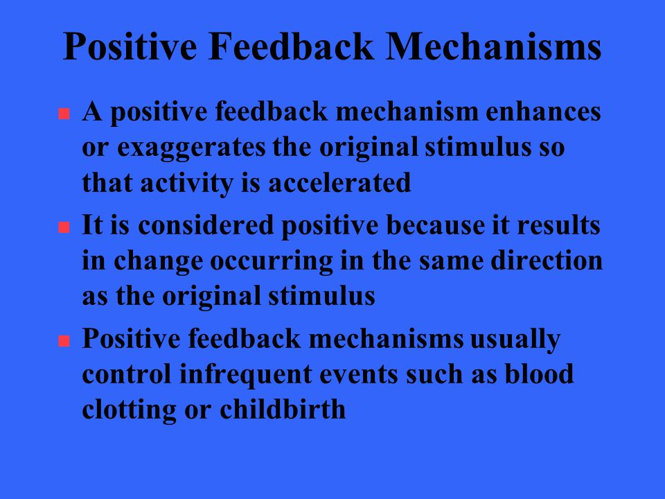 how to describe the direction of change in feedback mechanism